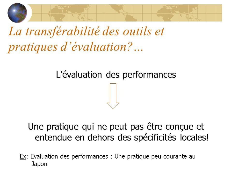 La transférabilité des outils et pratiques d'évaluation …