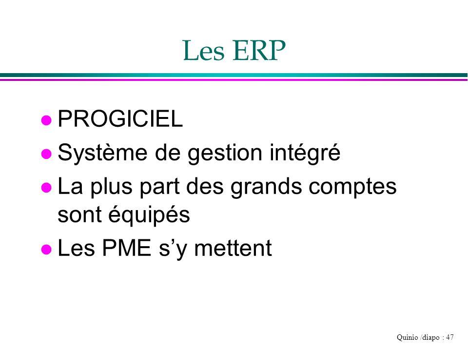 Les ERP PROGICIEL Système de gestion intégré