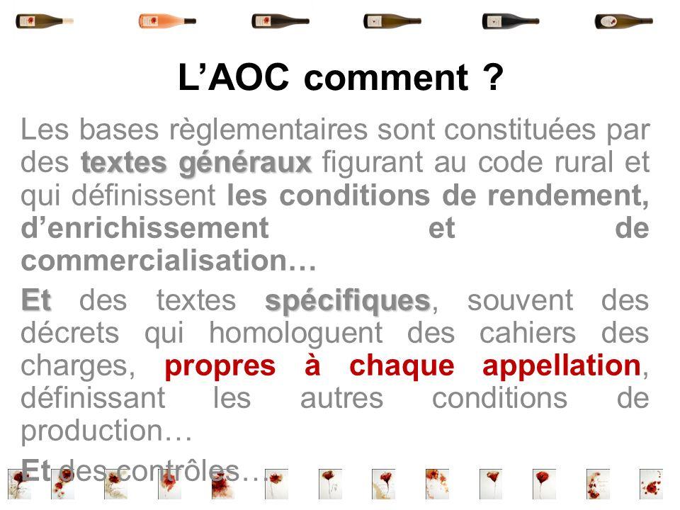 L'AOC comment