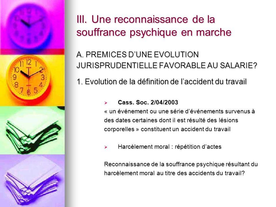 III. Une reconnaissance de la souffrance psychique en marche