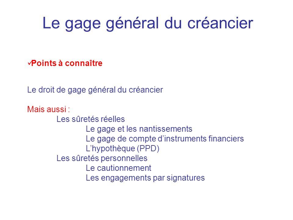 Le gage général du créancier