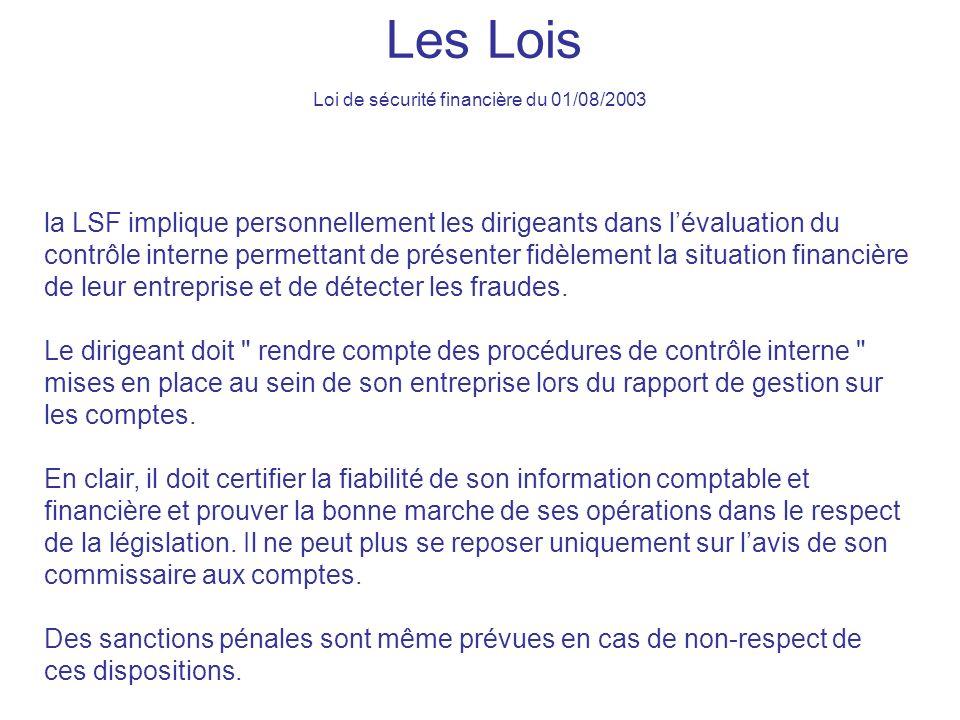 Loi de sécurité financière du 01/08/2003