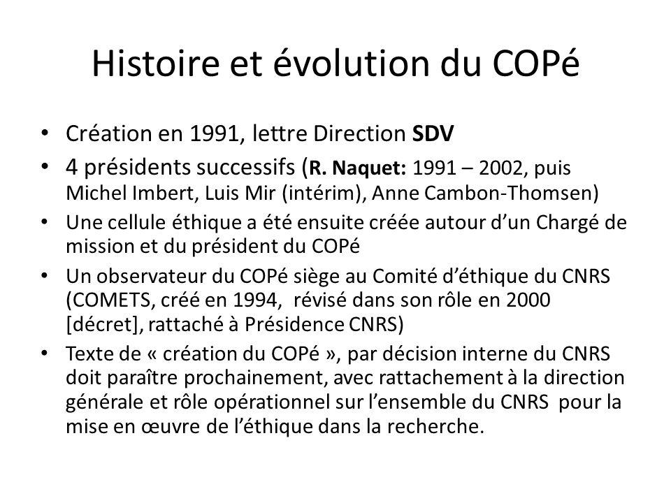 Histoire et évolution du COPé