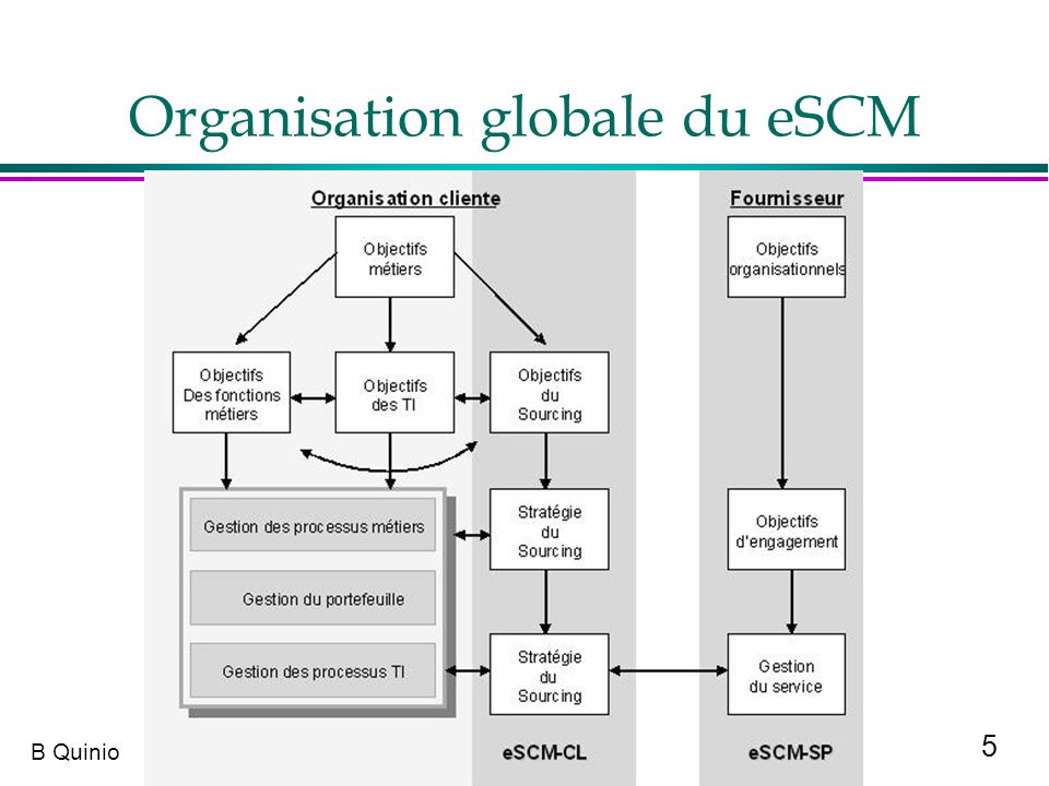 Organisation globale du eSCM