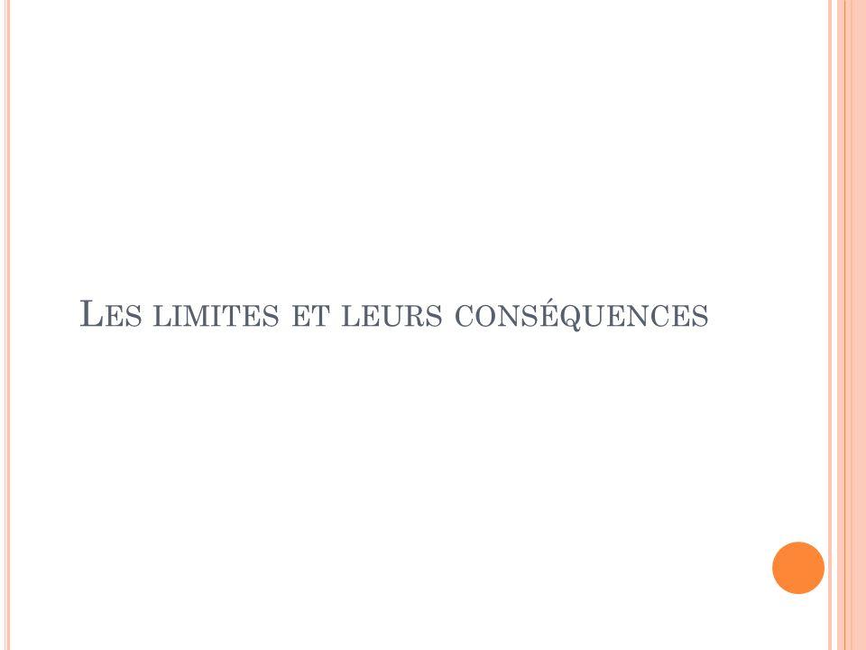 Les limites et leurs conséquences