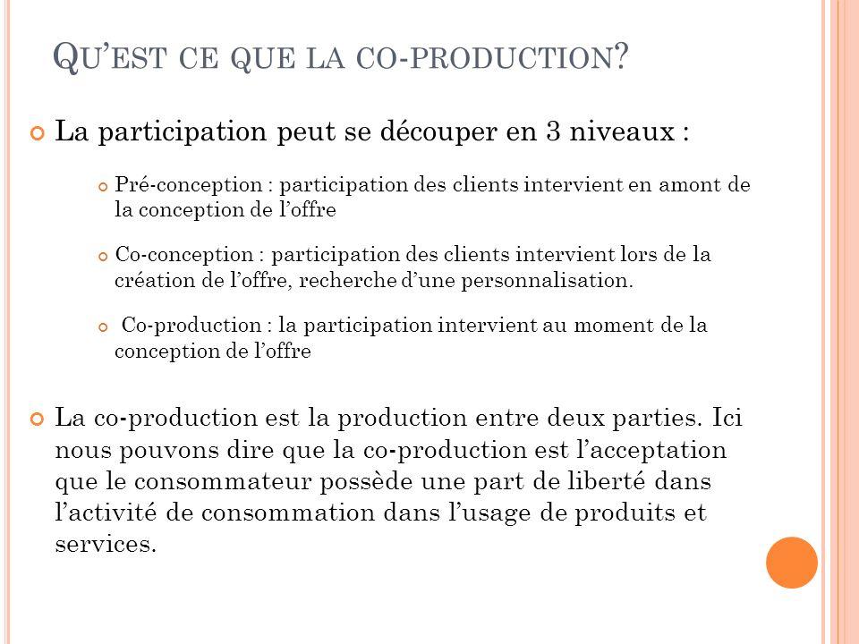 Qu'est ce que la co-production