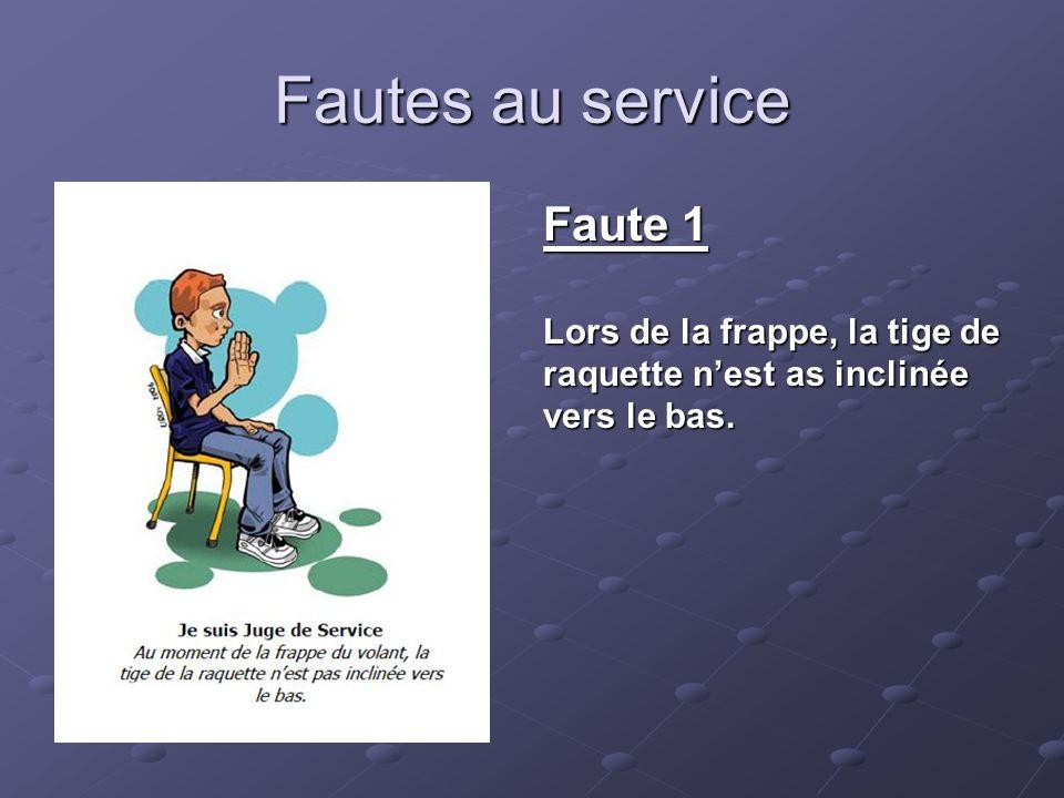 Fautes au service Faute 1