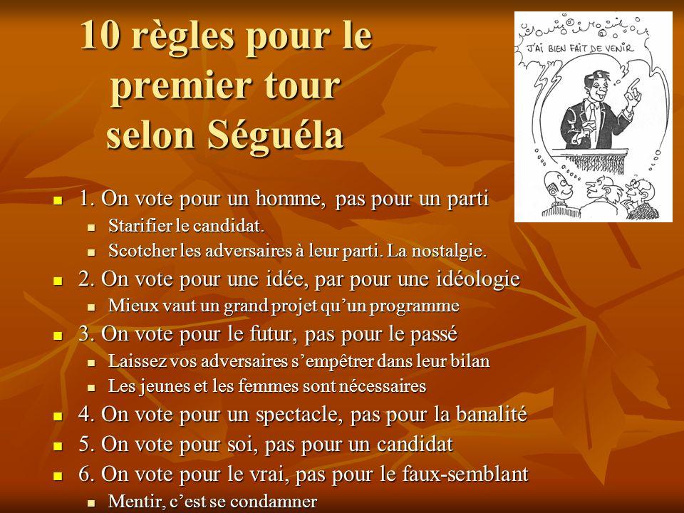 10 règles pour le premier tour selon Séguéla