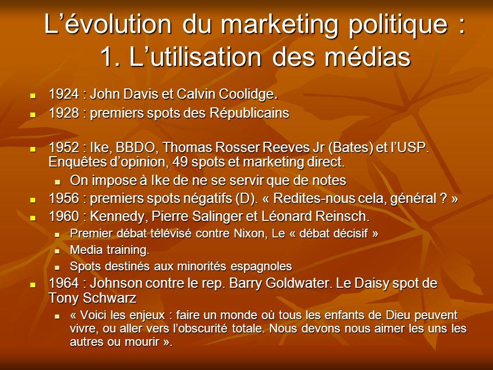 L'évolution du marketing politique : 1. L'utilisation des médias