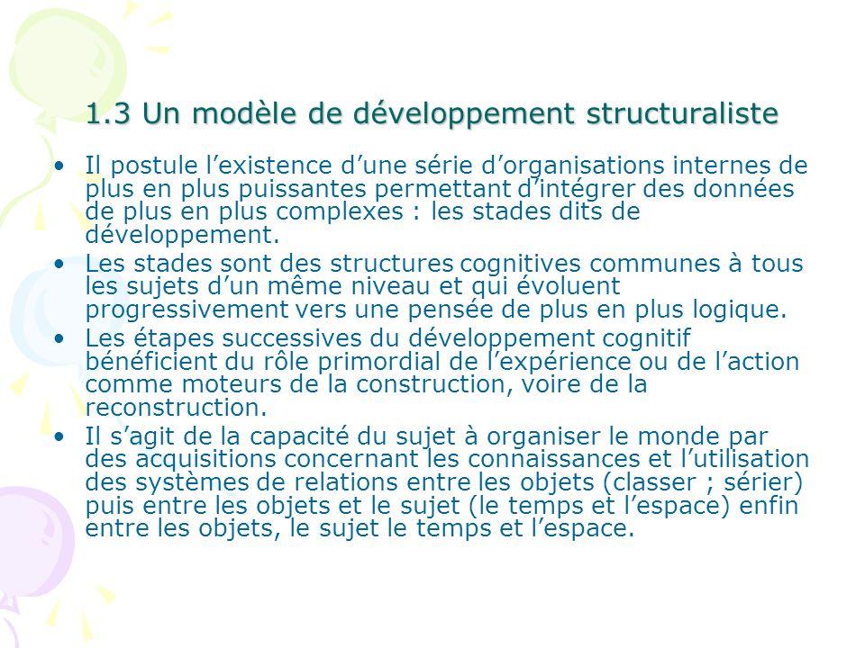 1.3 Un modèle de développement structuraliste