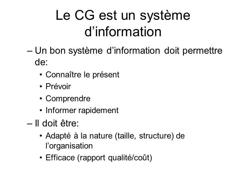 Le CG est un système d'information