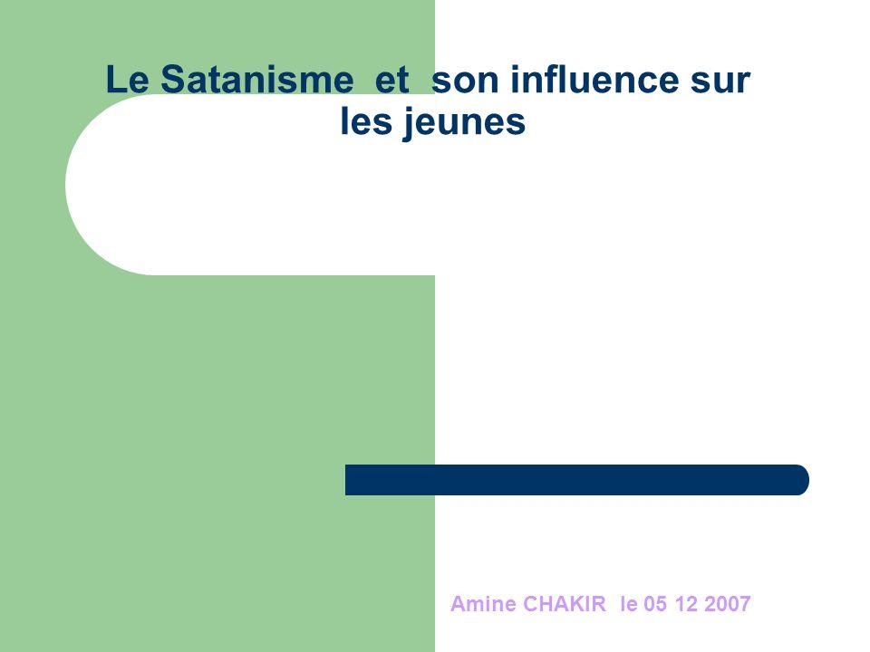 Le Satanisme et son influence sur les jeunes