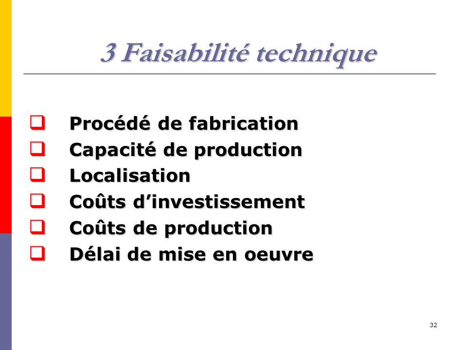 3 Faisabilité technique