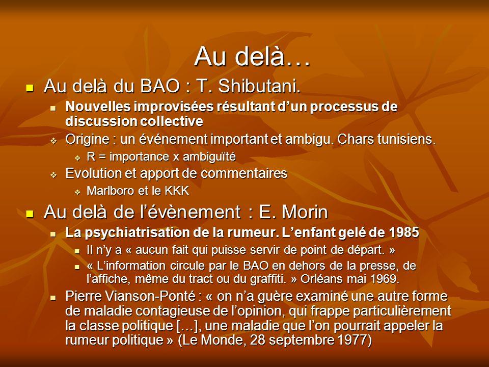 Au delà… Au delà du BAO : T. Shibutani.