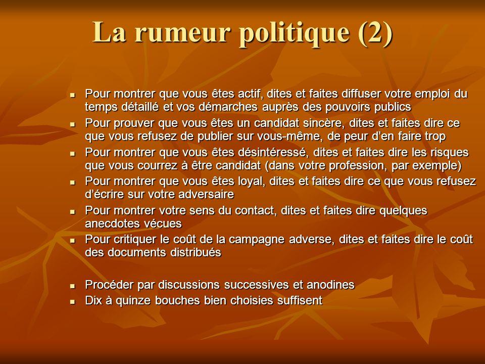 La rumeur politique (2)