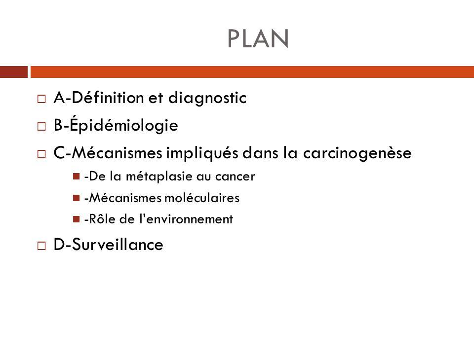 PLAN A-Définition et diagnostic B-Épidémiologie