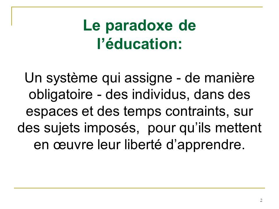 Le paradoxe de l'éducation: