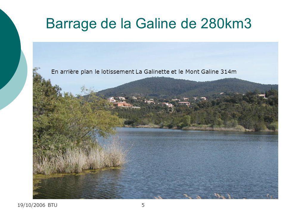 Barrage de la Galine de 280km3
