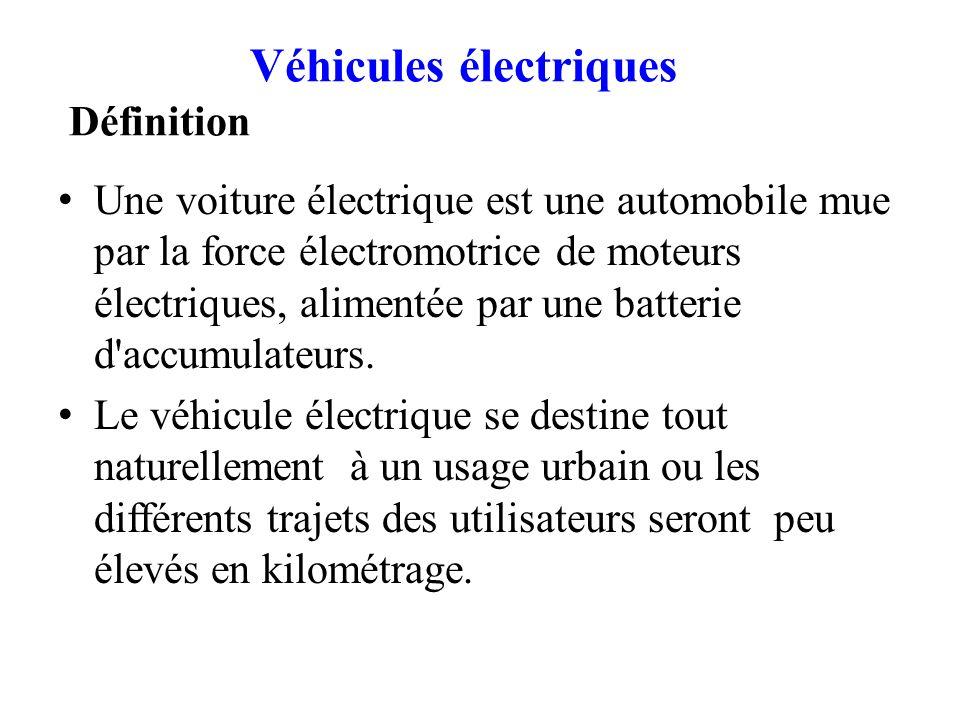 Véhicules électriques Définition