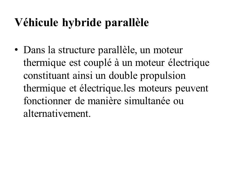 Véhicule hybride parallèle