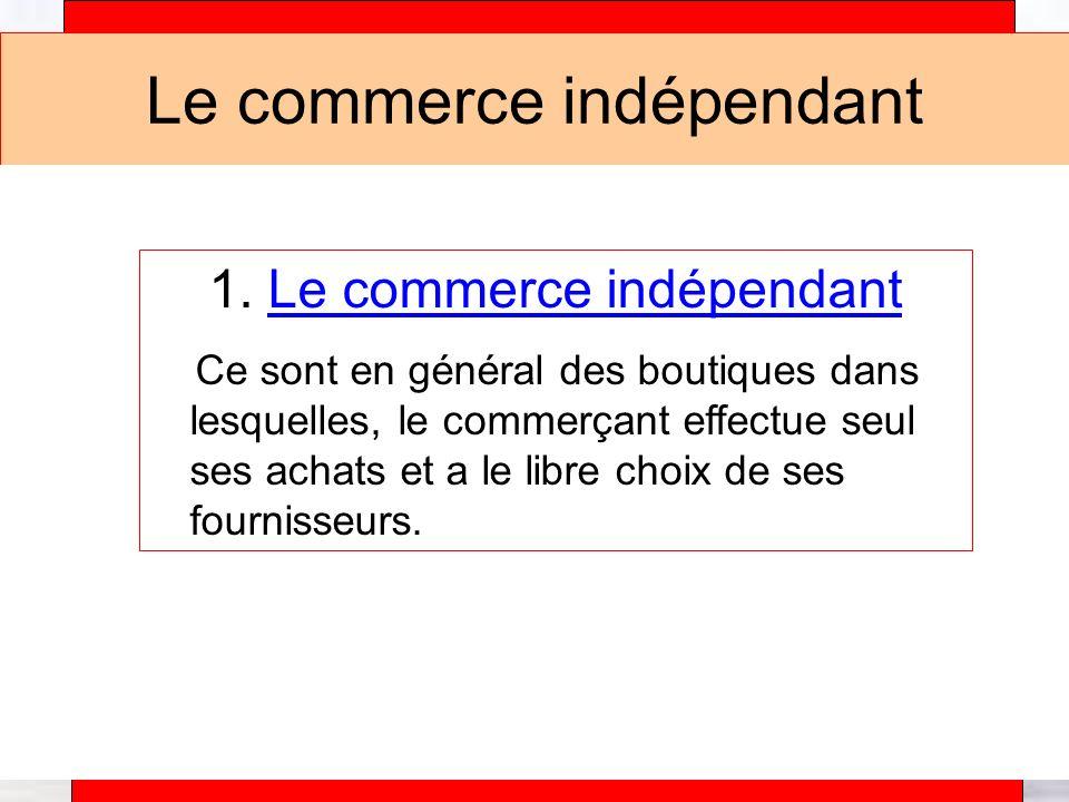 Le commerce indépendant