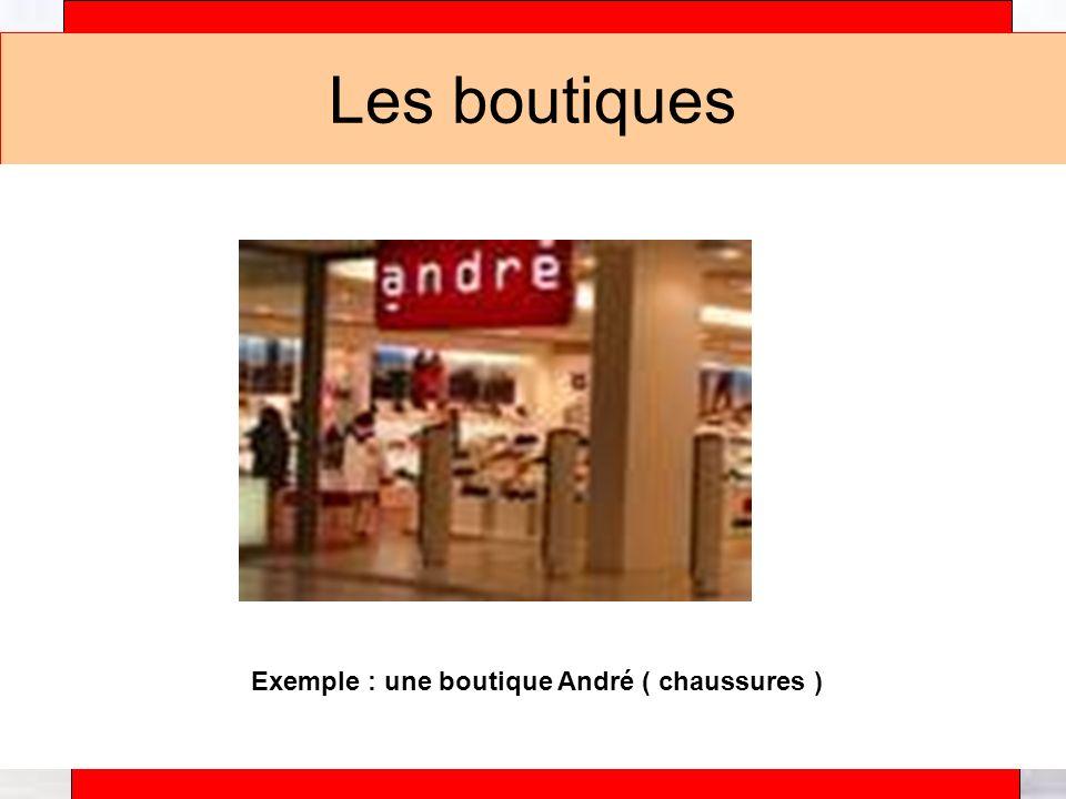 Exemple : une boutique André ( chaussures )
