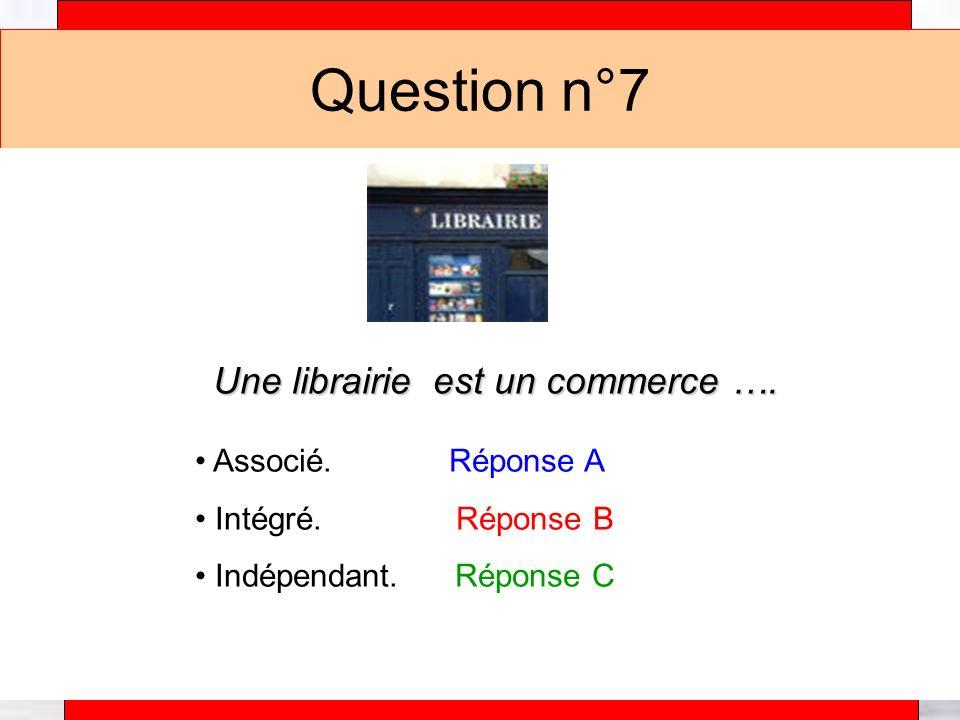 Une librairie est un commerce ….