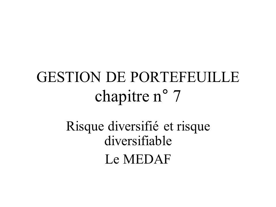 GESTION DE PORTEFEUILLE chapitre n° 7