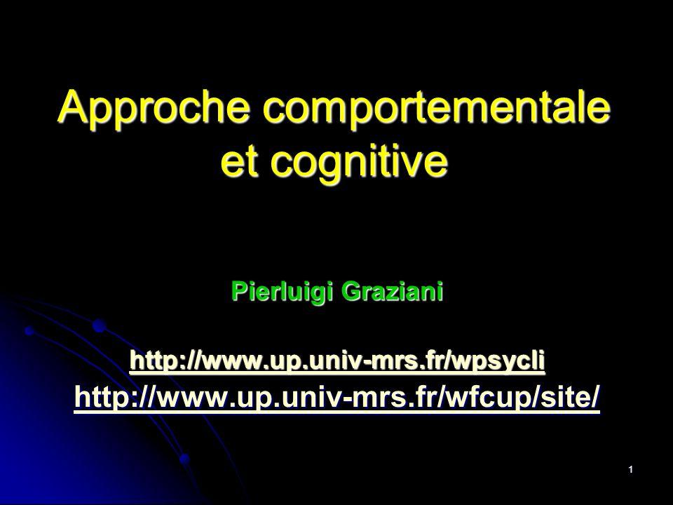 Approche comportementale et cognitive