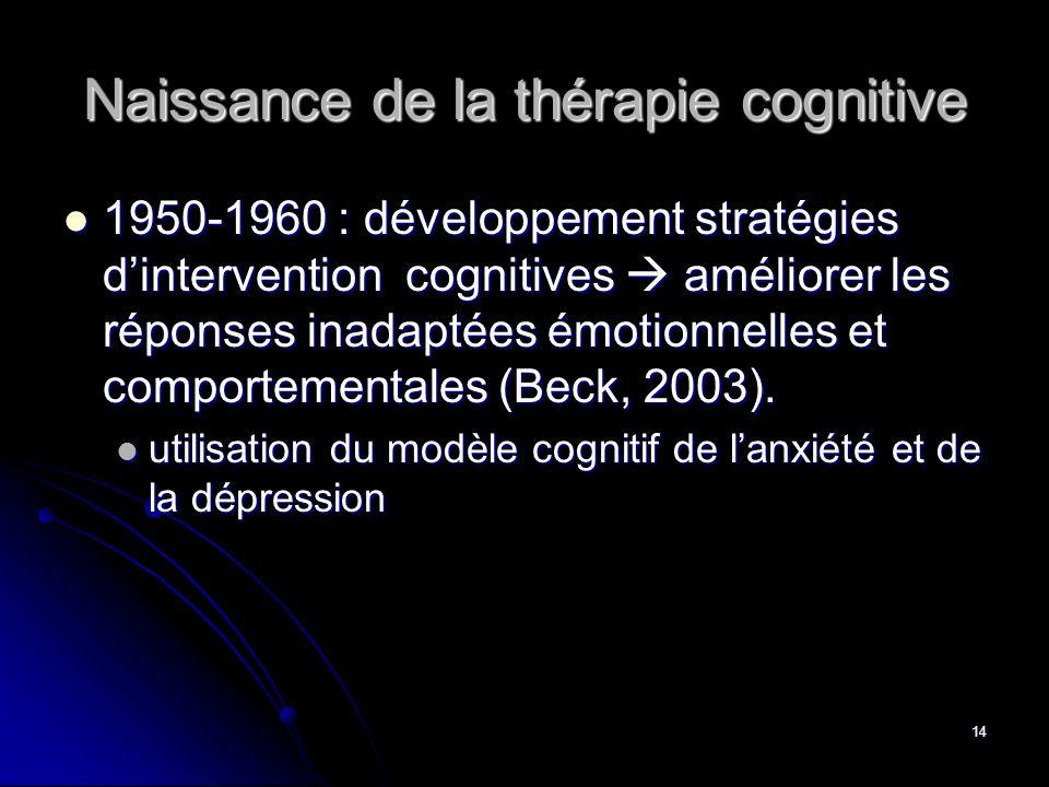 Naissance de la thérapie cognitive