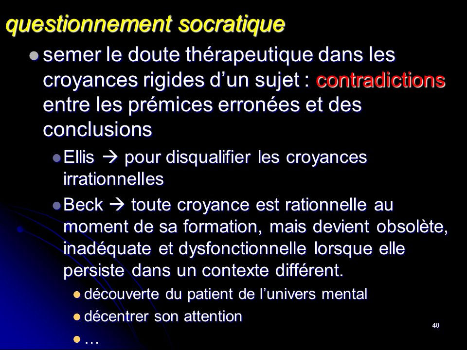 questionnement socratique