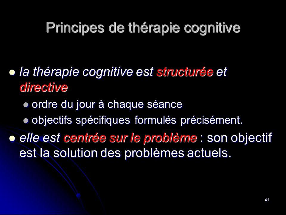 Principes de thérapie cognitive