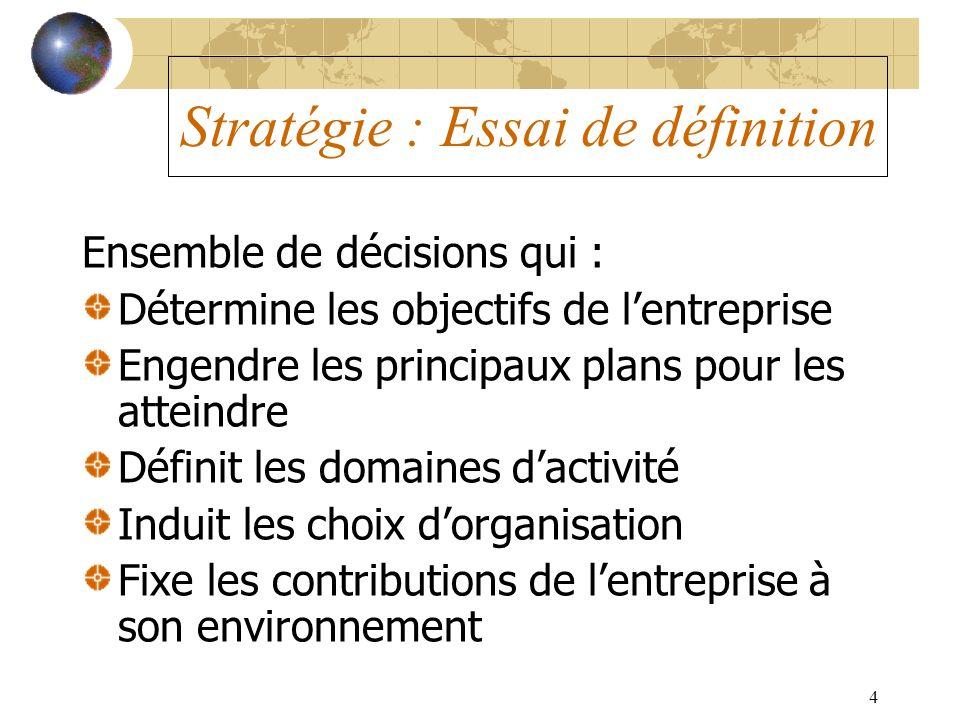 Stratégie : Essai de définition