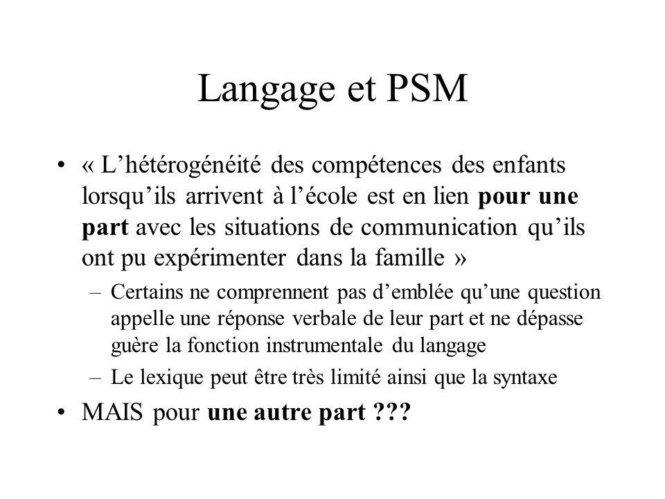 Langage et PSM