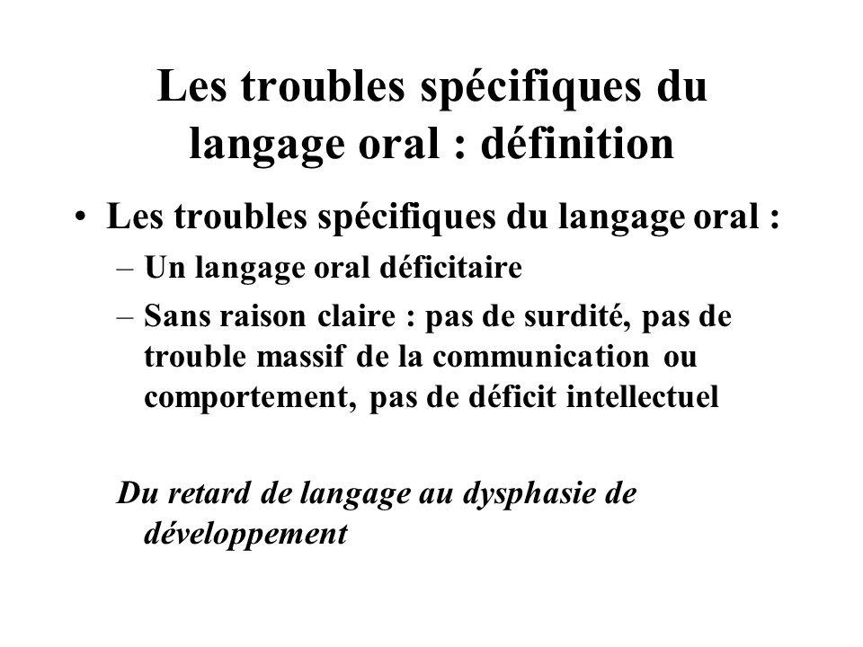Les troubles spécifiques du langage oral : définition