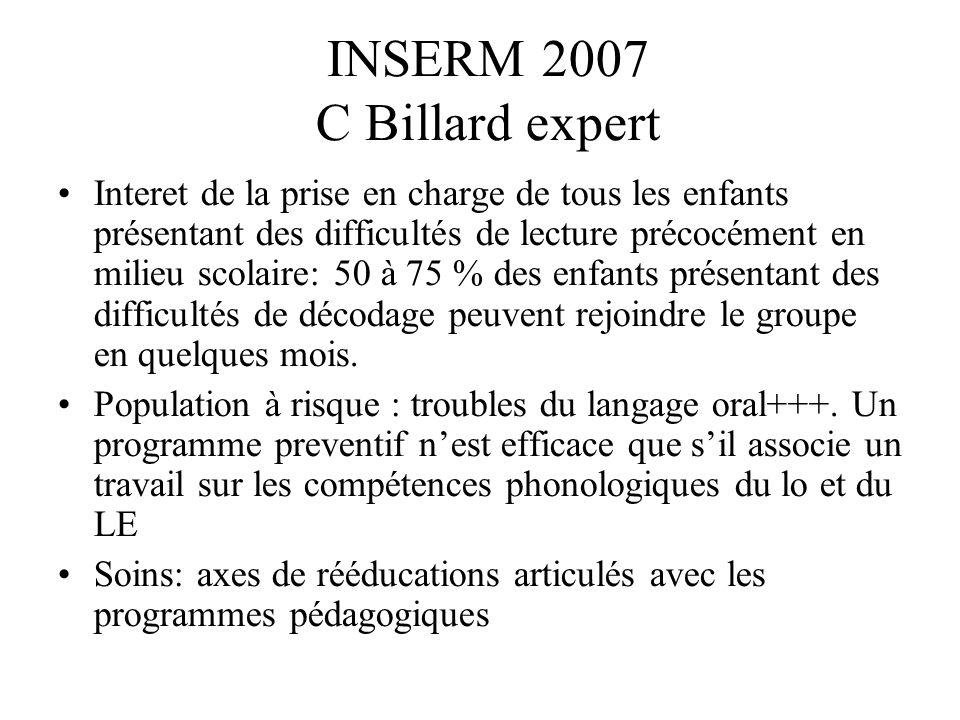 INSERM 2007 C Billard expert