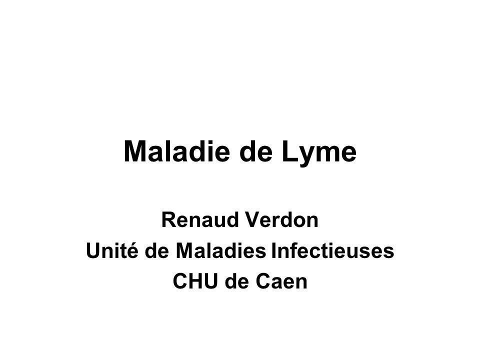 Renaud Verdon Unité de Maladies Infectieuses CHU de Caen