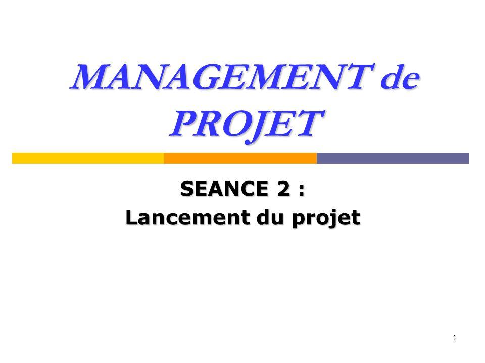 SEANCE 2 : Lancement du projet