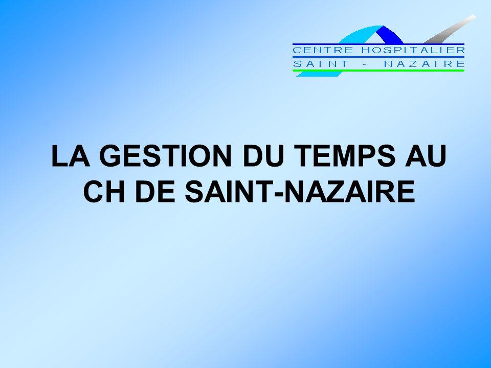 LA GESTION DU TEMPS AU CH DE SAINT-NAZAIRE