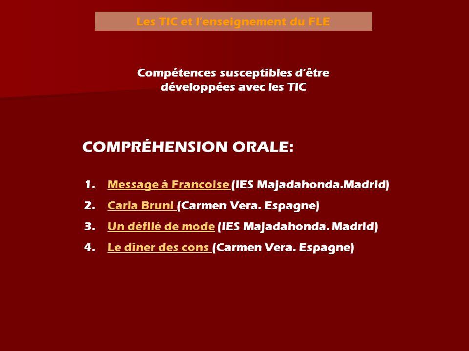 COMPRÉHENSION ORALE: Les TIC et l'enseignement du FLE