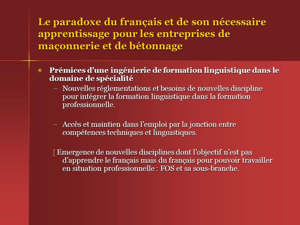 Le paradoxe du français et de son nécessaire apprentissage pour les entreprises de maçonnerie et de bétonnage