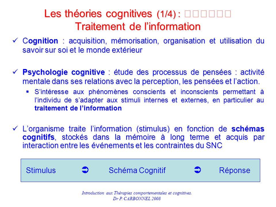 Les théories cognitives (1/4) :  Traitement de l'information