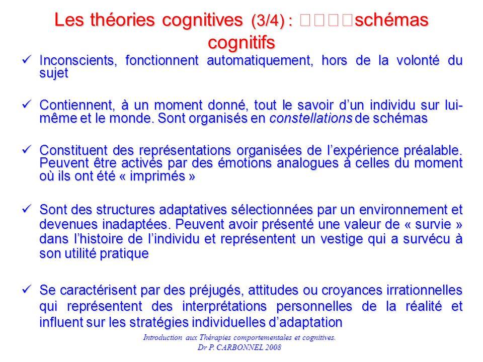 Les théories cognitives (3/4) : schémas cognitifs