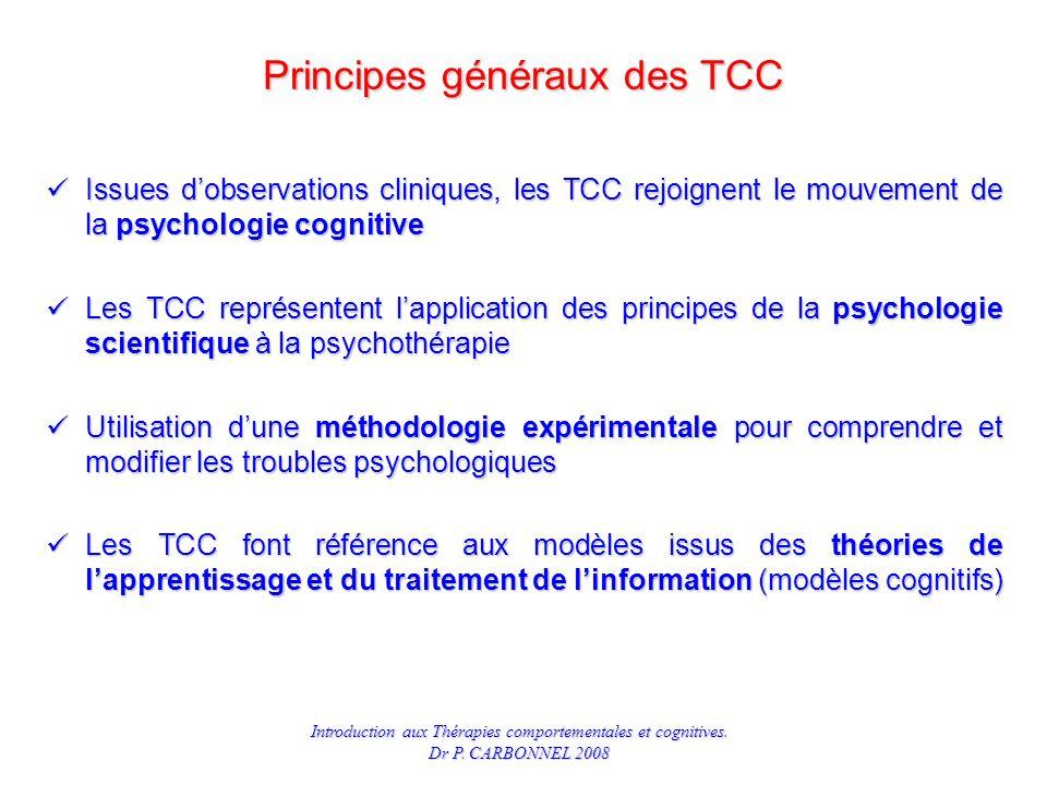 Principes généraux des TCC