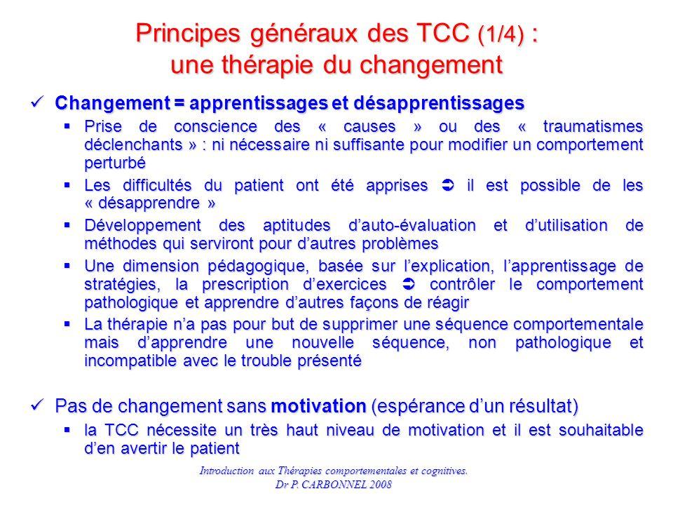 Principes généraux des TCC (1/4) : une thérapie du changement