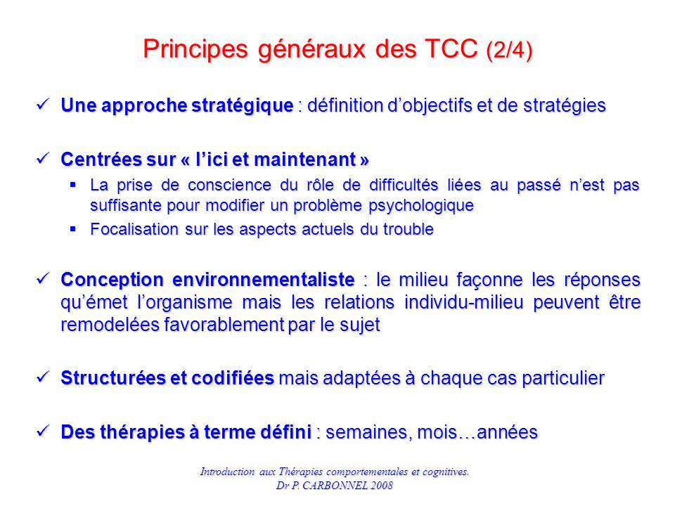 Principes généraux des TCC (2/4)