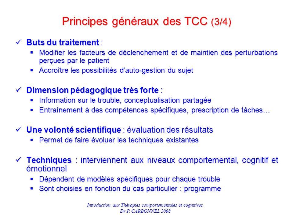 Principes généraux des TCC (3/4)