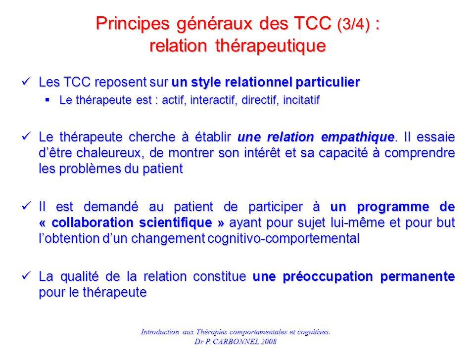 Principes généraux des TCC (3/4) : relation thérapeutique