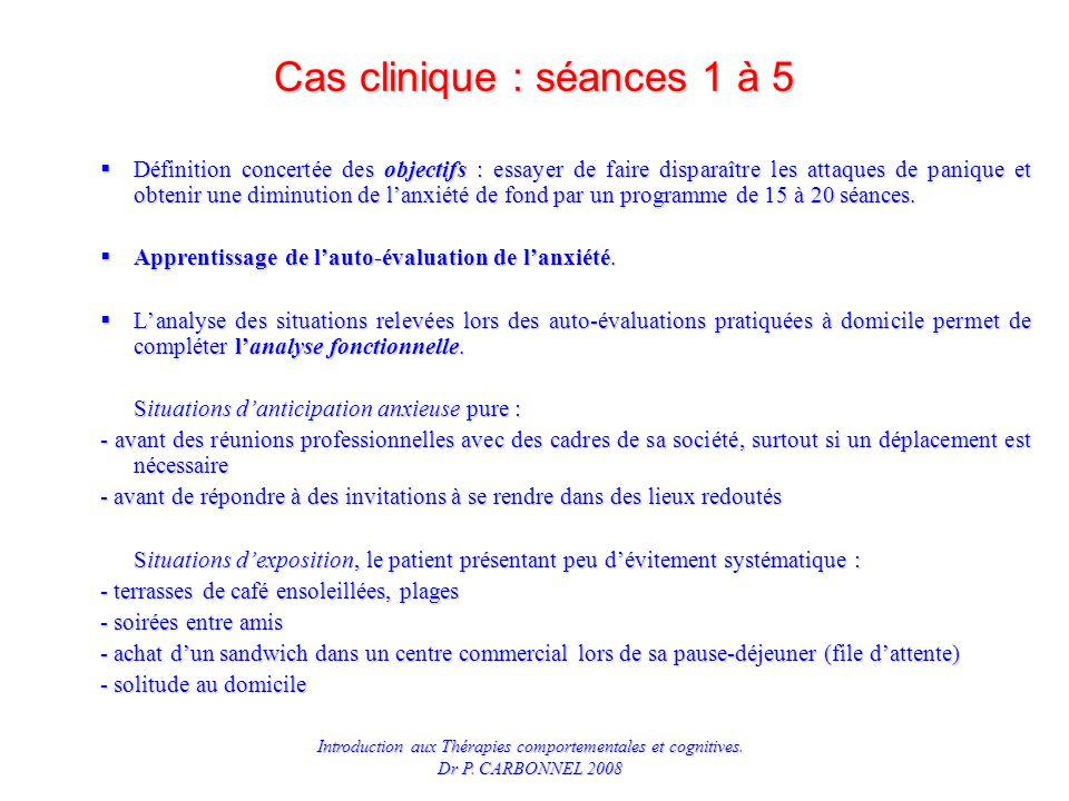 Cas clinique : séances 1 à 5