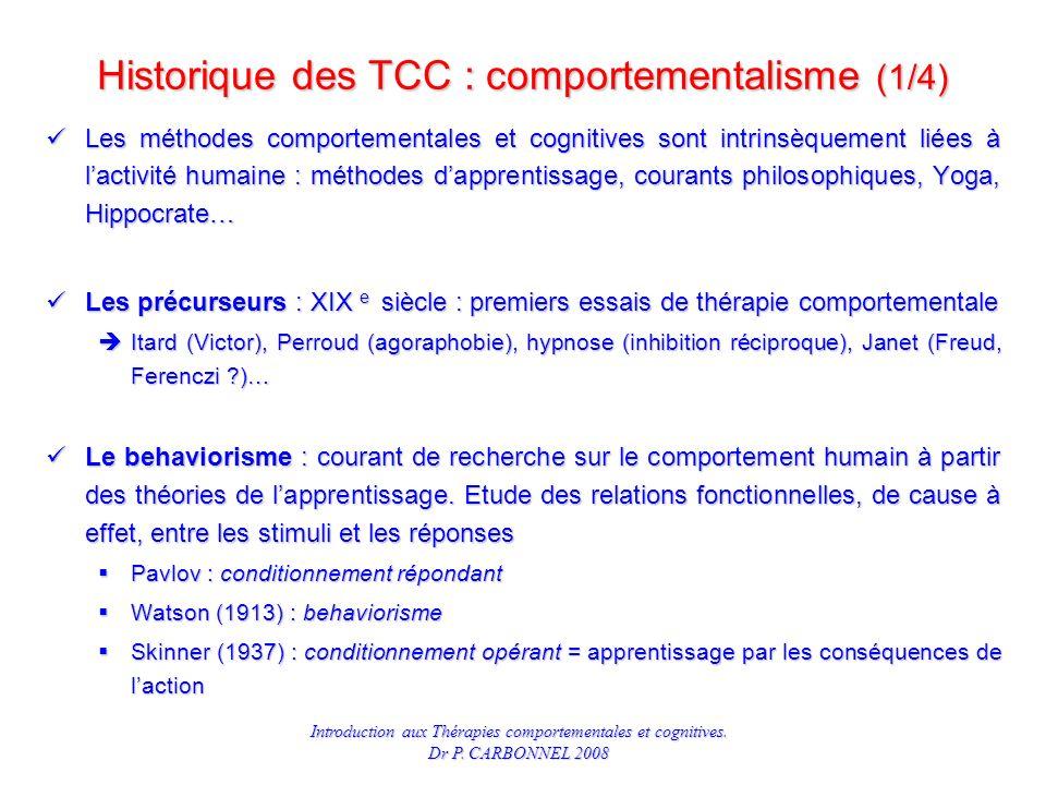 Historique des TCC : comportementalisme (1/4)
